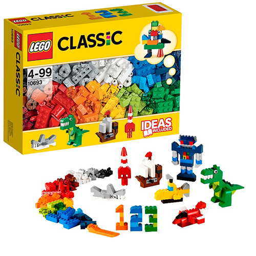 LEGO Classic 10693 Дополнение к набору для творчества - яркие цвета