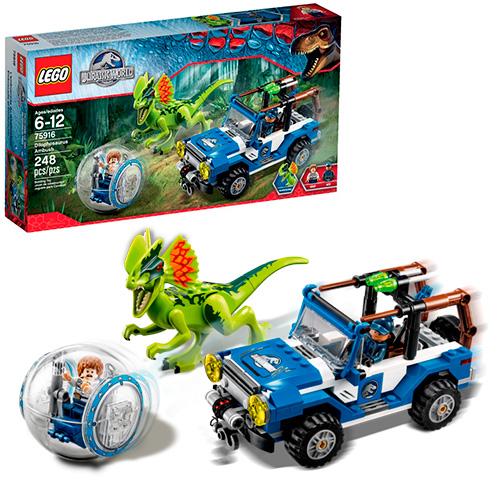 LEGO Jurassic World 75916 Засада на дилофозавра
