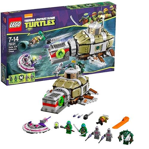Lego 79121 TMNT Преследование на подводной лодке черепашек