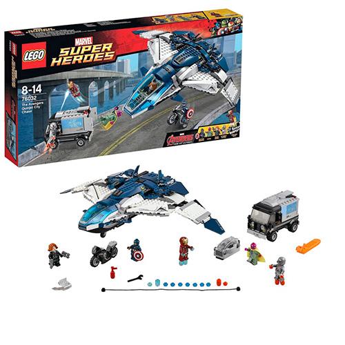 LEGO Super Heroes 76032 Marvel Эра Альтрона: Городская Погоня на Квинджете Мстителей