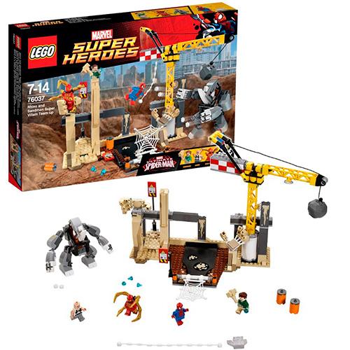 LEGO Super Heroes 76037 Marvel Носорог и Песочный человек против Супергероев
