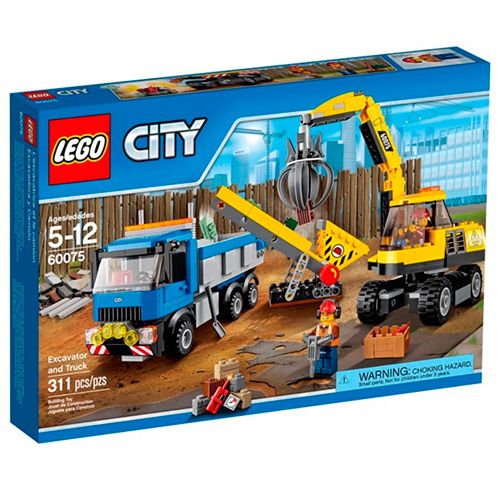 LEGO City 60075 Экскаватор и грузовик
