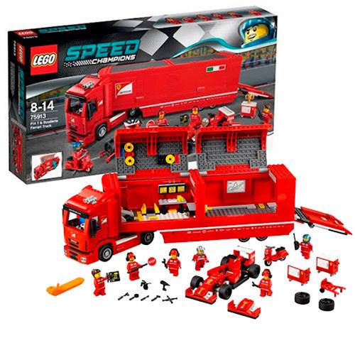 LEGO 75913 Speed Champions Феррари F14 и грузовик Скудерии Феррари