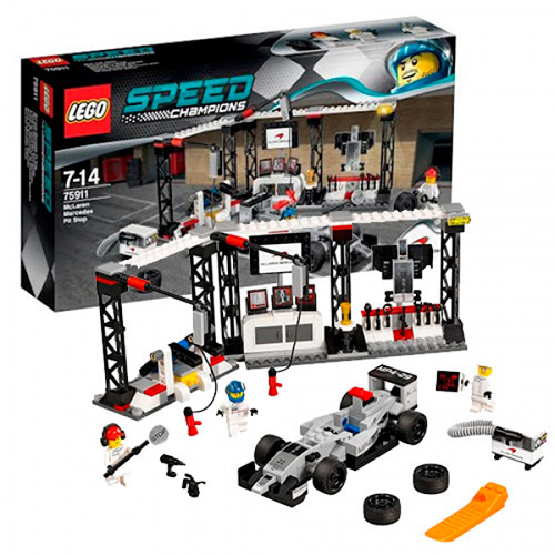 LEGO 75911 Speed Champions Пункт техобслуживания McLaren Mercedes